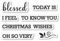 CL5213 Blessed to Know You Clear Stamp Set