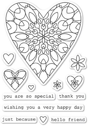 CL5218 Wirework Hearts clear stamp set