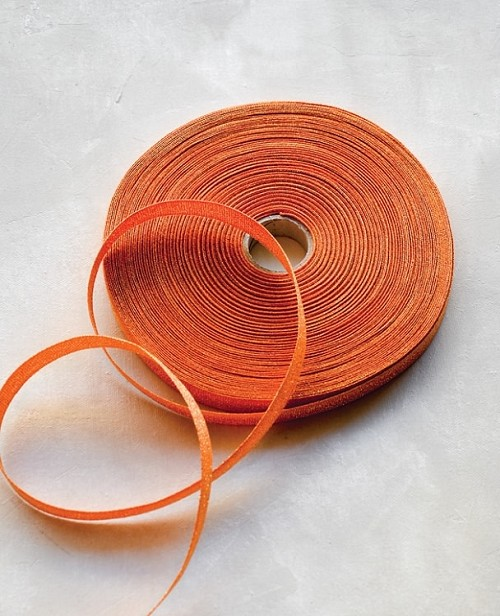 33109 Tangerine Metallic Ribbon