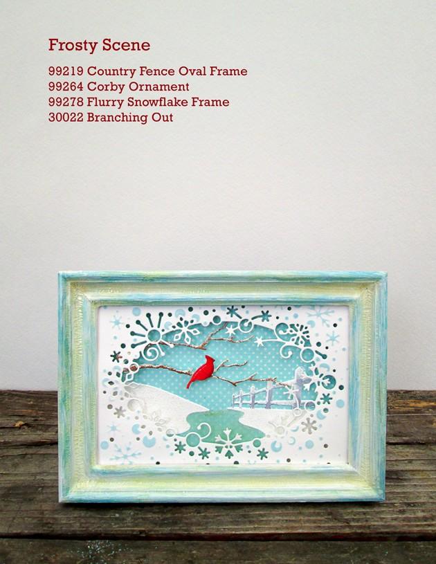 Flurry Snowflake Frame