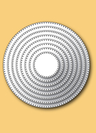 30058 Pinpoint Circle Layers craft dies