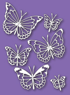 30085 Morning Garden Butterflies craft die