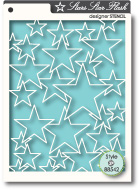 88542 Star Flash stencil
