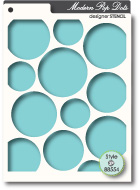 88554 Pop Dots stencil