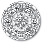 94030 Pinpoint Snowflake Circle Frame craft die
