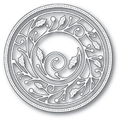 94040 Wrapped Holly Circle Frame craft die