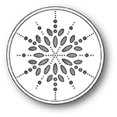 94089 Pinpoint Snowflake Circle craft die
