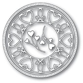 94114 Scrollwork Heart Circle Frame craft die