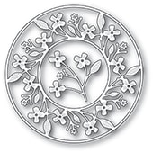 94242 Cottage Flower Circle Frame craft die