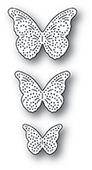 94279 Pinpoint Butterfly Trio craft die