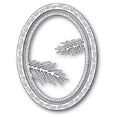 94283 Pine Needle Oval Frame  craft die