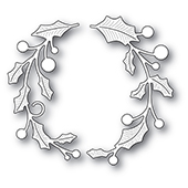 94307 Holly Double Arch craft die