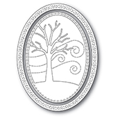 94309 Winter Tree Oval Frame craft die