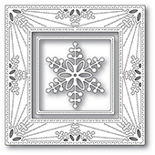 94314 Bauble Snowflake Frame craft die