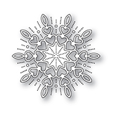 94315 Holiday Heart Snowflake craft die