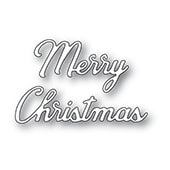 94357 Merry Christmas Noted Script craft die