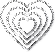 94359 Double Stitch Loving Heart Cut Out craft die