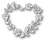 94371 Blooming Heart Wreath craft die
