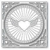94372 Winged Heart Frame craft die