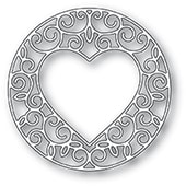 94388 Gilded Heart Circle craft die