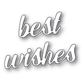 94394 Best Wishes Banner Script craft dies