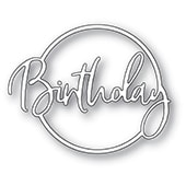 94396 Birthday Cursive Script Circle craft die