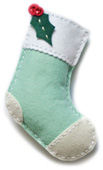 99310 Plush Holly Stocking craft die