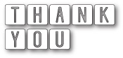 99416 Thank You Tiles craft die
