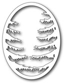 99489 Pine Branch Oval Frame craft die