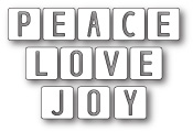 99539 Peace Love and Joy Tiles craft die