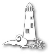 99736 Oceanside Lighthouse and Waves craft die