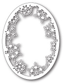 99816 Batavia Snowflake Oval craft die