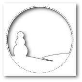 99839 Stitched Circle Snowman craft die