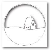 99852 Stitched Circle Cabin craft die