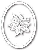 99859 Decorative Poinsettia Oval craft die