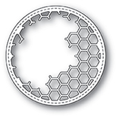 99923 Honeycomb Stitched Circle Frame craft die