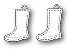 99955 Stitched Rain Boots craft die