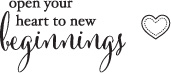 B2072 Beginnings Rubber Stamp
