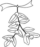 C2001 Mistletoe Bundle wood mounted stamp