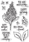 CL5199 Spring Lilacs clear stamp set