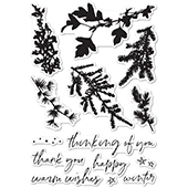 CL5235 Winter Greenery clear stamp set