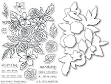 CL5241-D Rose Bouquet clear stamp and die set