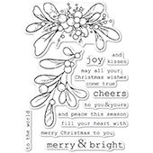 CL5246 Merry and Bright Mistletoe clear stamp set
