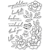 CL5255 Peony Garden Corner clear stamp set