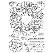 CL5257 Peony Garden Wreath clear stamp set