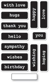 CL5259 Big and Little Reverse Words clear stamp set
