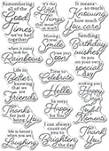CL5266 Joyful Moments clear stamp set