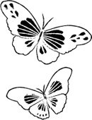 E2033 Twirling Butterflies wood mounted stamp