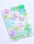 EF1005 Butterfly Gathering 3D Embossing Folder