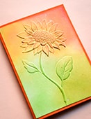 EF1008 Magnificent Sunflower 3D Embossing Folder